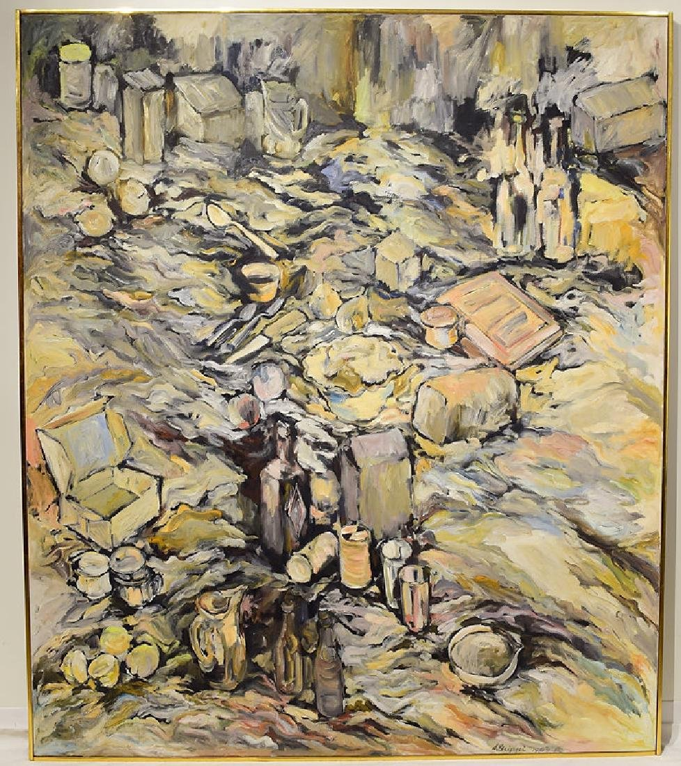 Oil Or Acrylic SALVATORE GRIPPI OIL ON CANVAS 1963