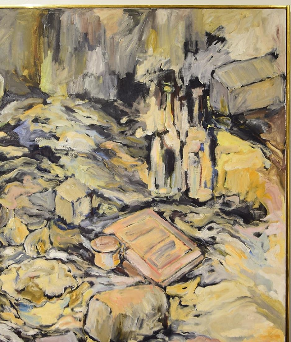 Oil Or Acrylic SALVATORE GRIPPI OIL ON CANVAS 1963 - 6