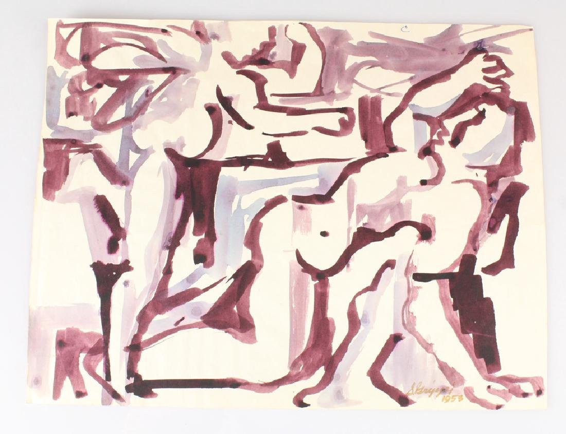 7pcs New York School SALVATORE GRIPPI STUDIES IN INK - 3