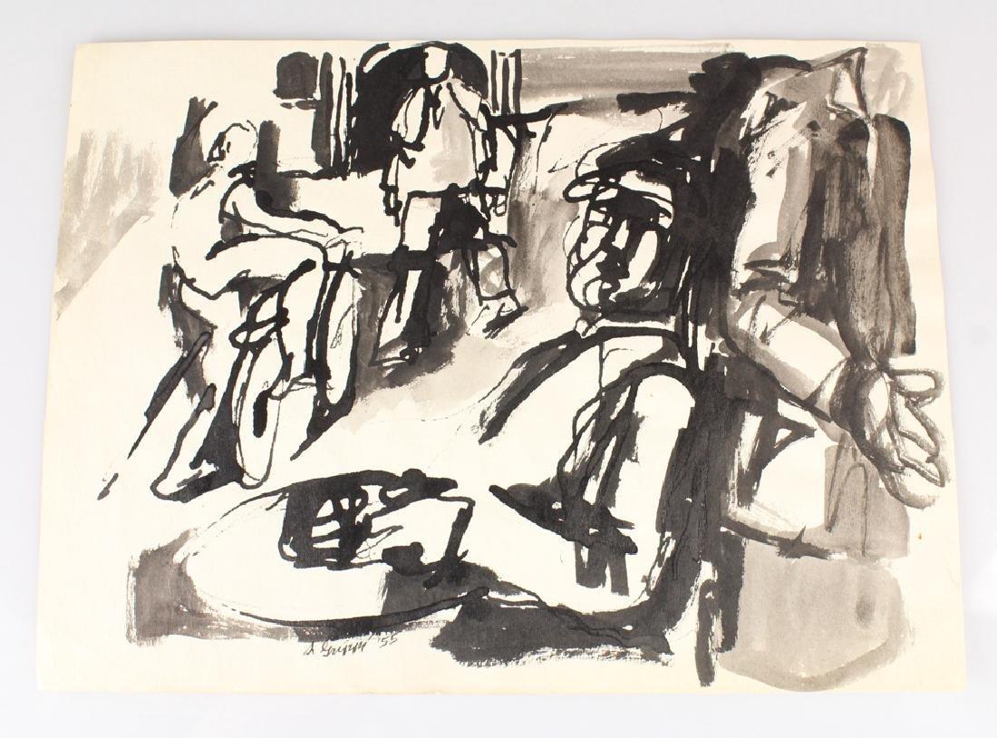 7pcs New York School SALVATORE GRIPPI STUDIES IN INK - 4