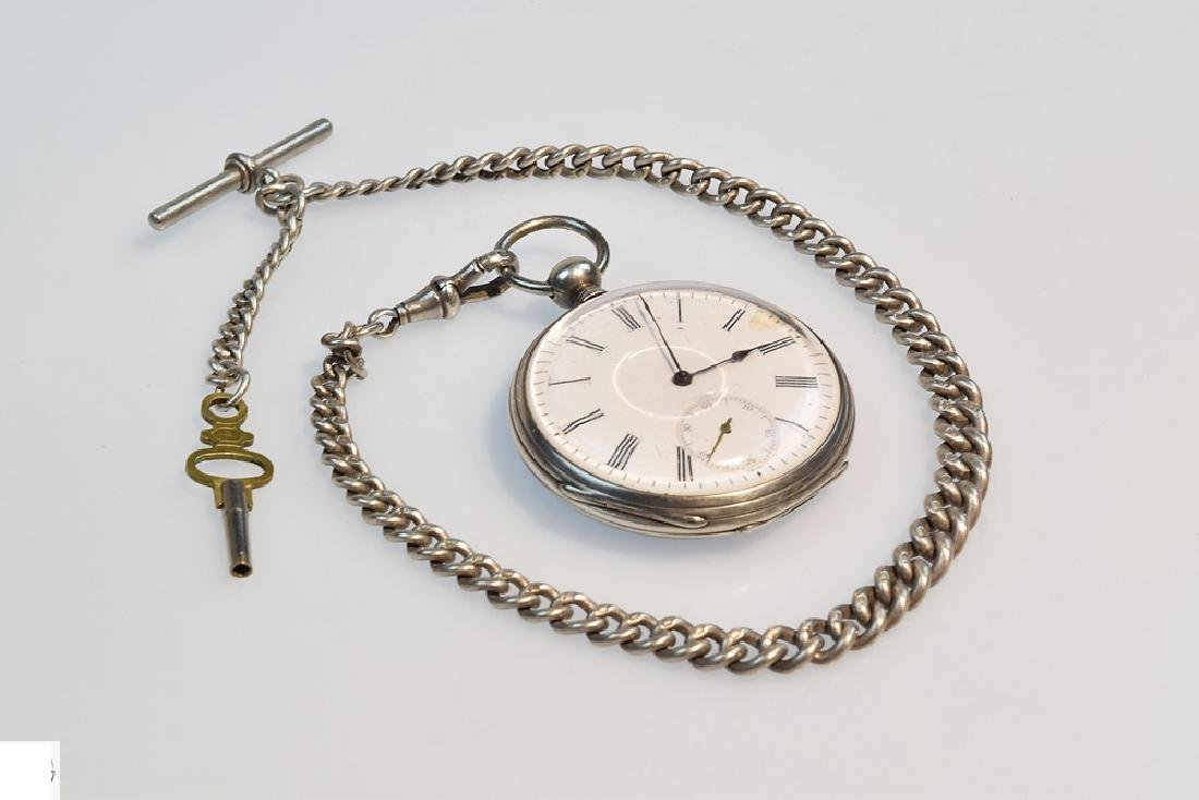 Antique Marchand SILVER POCKET WATCH Chronograph