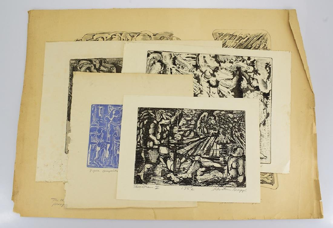 5pcs Early Salvatore Grippi INTAGLIO
