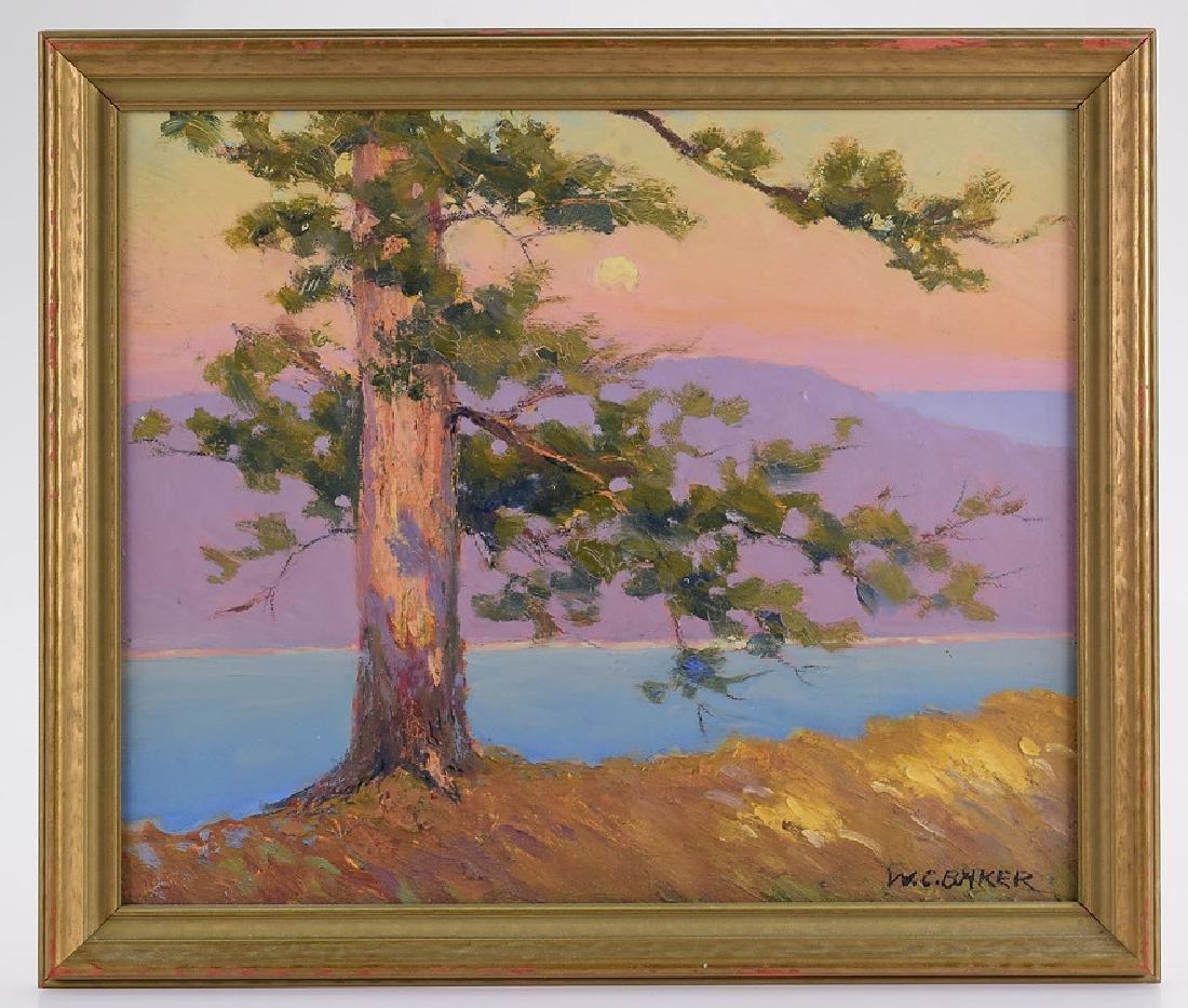 Ithaca Area Artist WILLIAM CHARLES BAKER Antique Artist