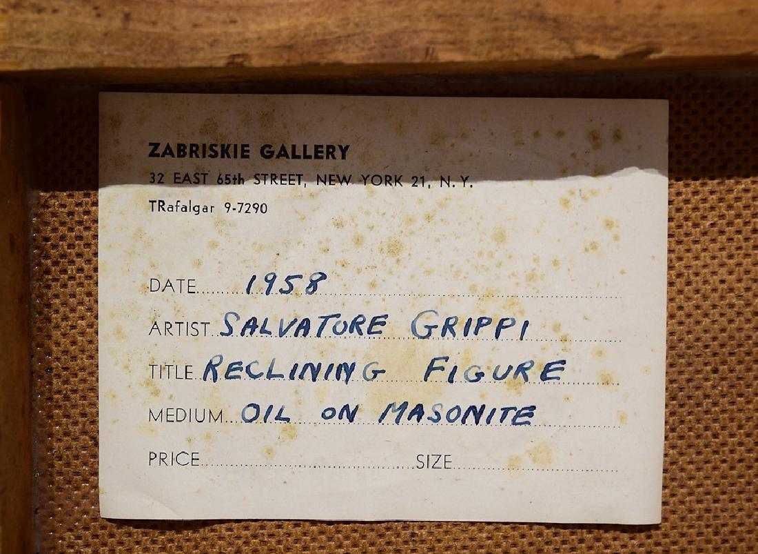 Reclining Figures SALVATORE GRIPPI OIL ON MASONITE - 6
