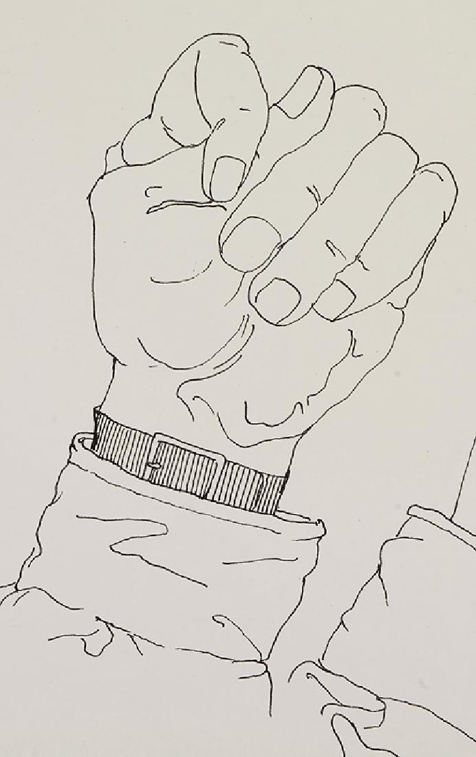 Signed SALVATORE GRIPPI INK STUDY OF HANDS 1976 New - 2