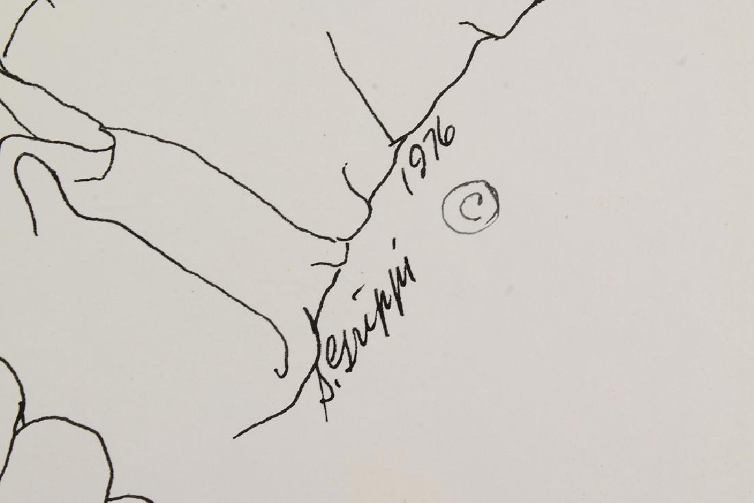 Signed SALVATORE GRIPPI INK STUDY OF HANDS 1976 New - 6