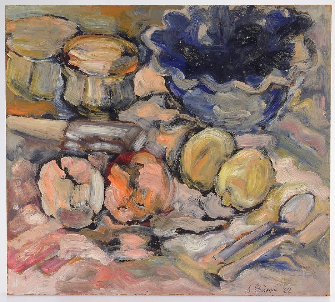 Still-Life Painting SALVATORE GRIPPI OIL ON BOARD 1962