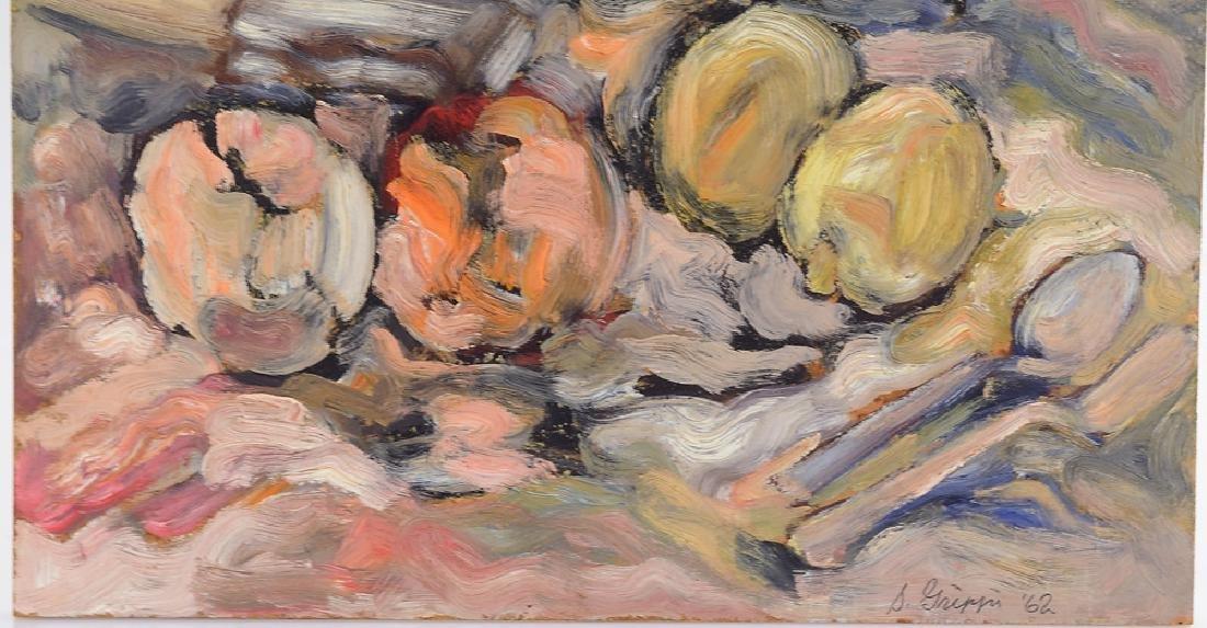 Still-Life Painting SALVATORE GRIPPI OIL ON BOARD 1962 - 4