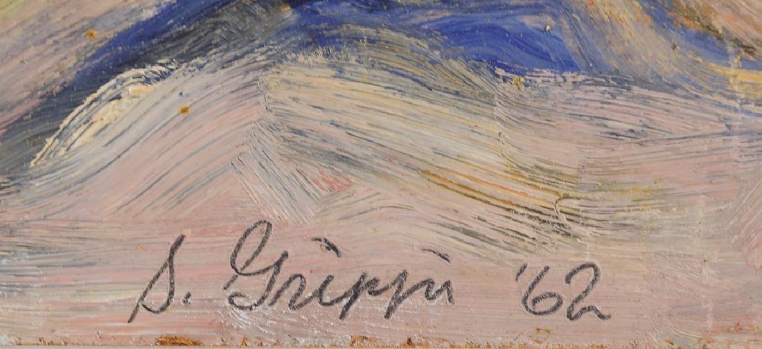 Still-Life Painting SALVATORE GRIPPI OIL ON BOARD 1962 - 5