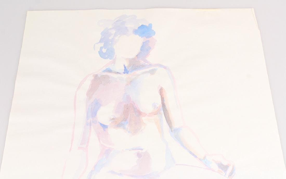 Artist Initialed Nude SALVATORE GRIPPI WATERCOLOR - 2