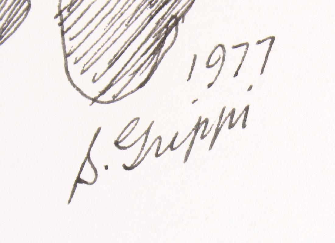 2pcs Artist Signed SALVATORE GRIPPI INK STUDIES OF - 10
