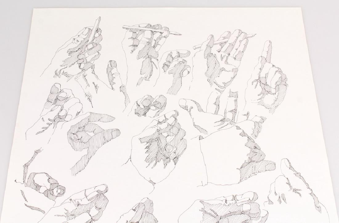 2pcs Artist Signed SALVATORE GRIPPI INK STUDIES OF - 3