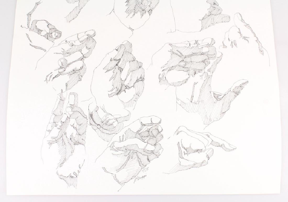 2pcs Artist Signed SALVATORE GRIPPI INK STUDIES OF - 4