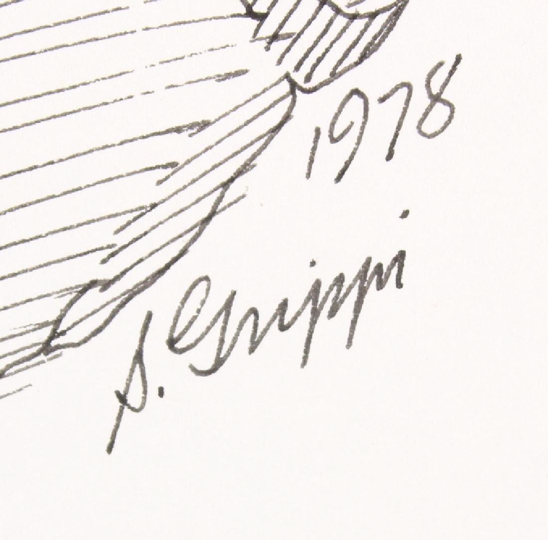 2pcs Artist Signed SALVATORE GRIPPI INK STUDIES OF - 5