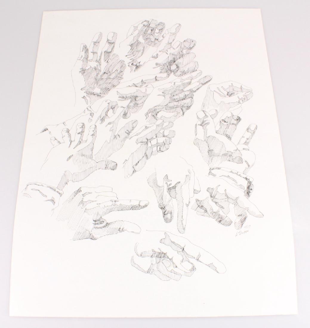 2pcs Artist Signed SALVATORE GRIPPI INK STUDIES OF - 7