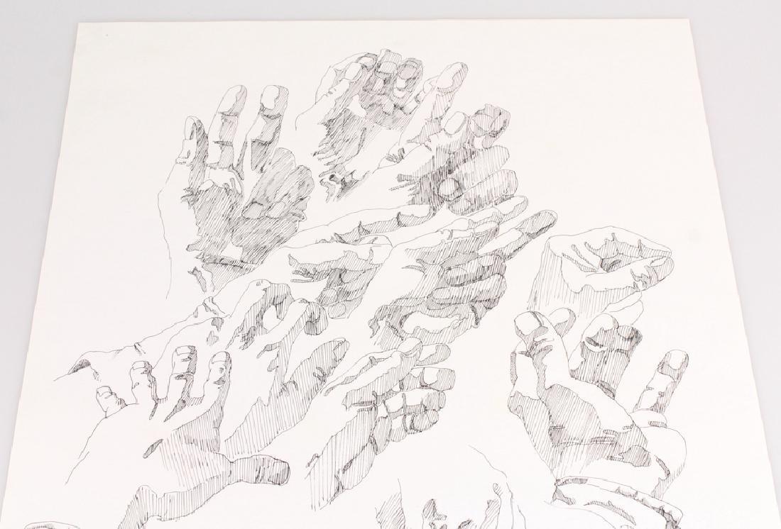 2pcs Artist Signed SALVATORE GRIPPI INK STUDIES OF - 8