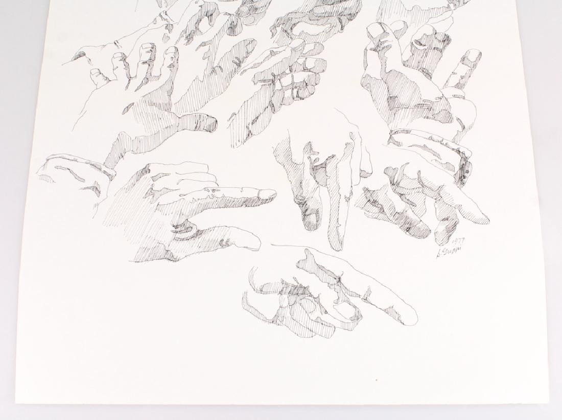 2pcs Artist Signed SALVATORE GRIPPI INK STUDIES OF - 9