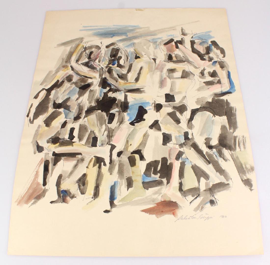 Watercolor Painting SALVATORE GRIPPI FIGURATIVE