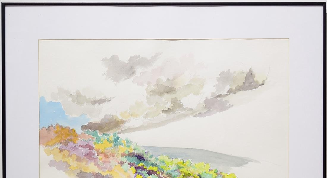 Artist Signed Framed SALVATORE GRIPPI WATERCOLOR - 3