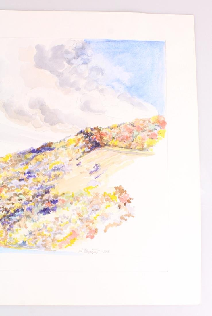 2pcs Artist Signed SALVATORE GRIPPI WATERCOLOR & PENCIL - 4