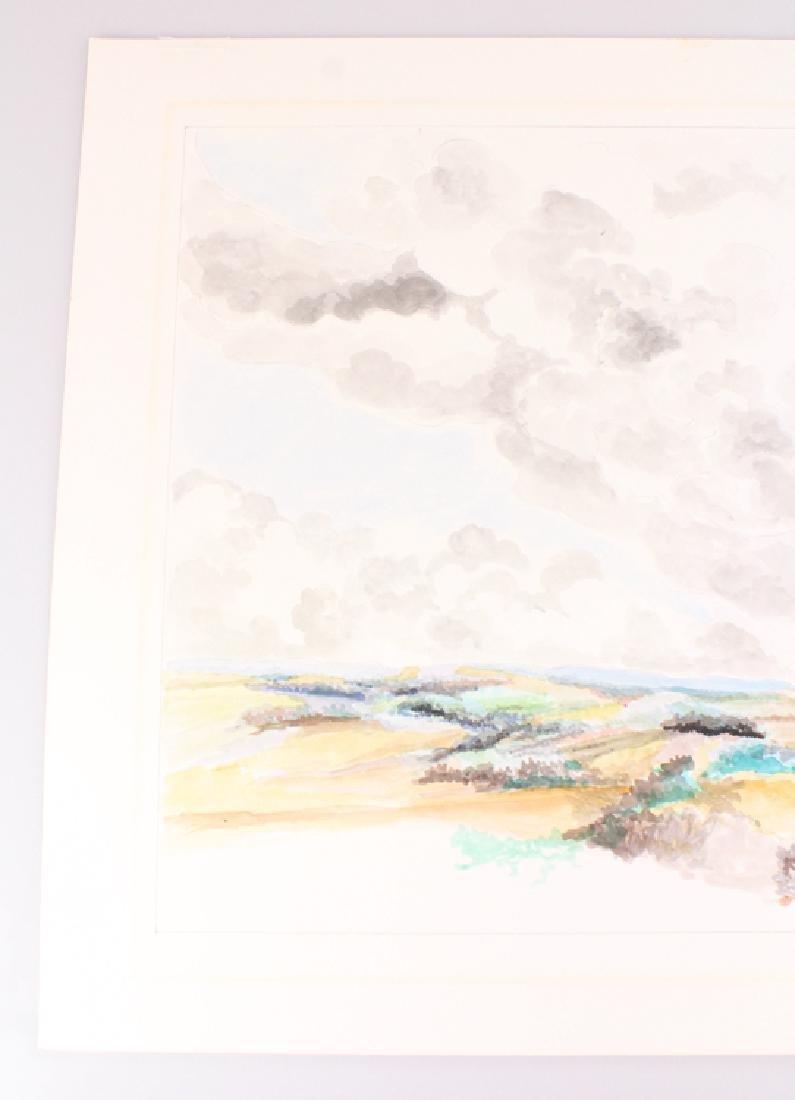 2pcs Artist Signed SALVATORE GRIPPI WATERCOLOR & PENCIL - 8