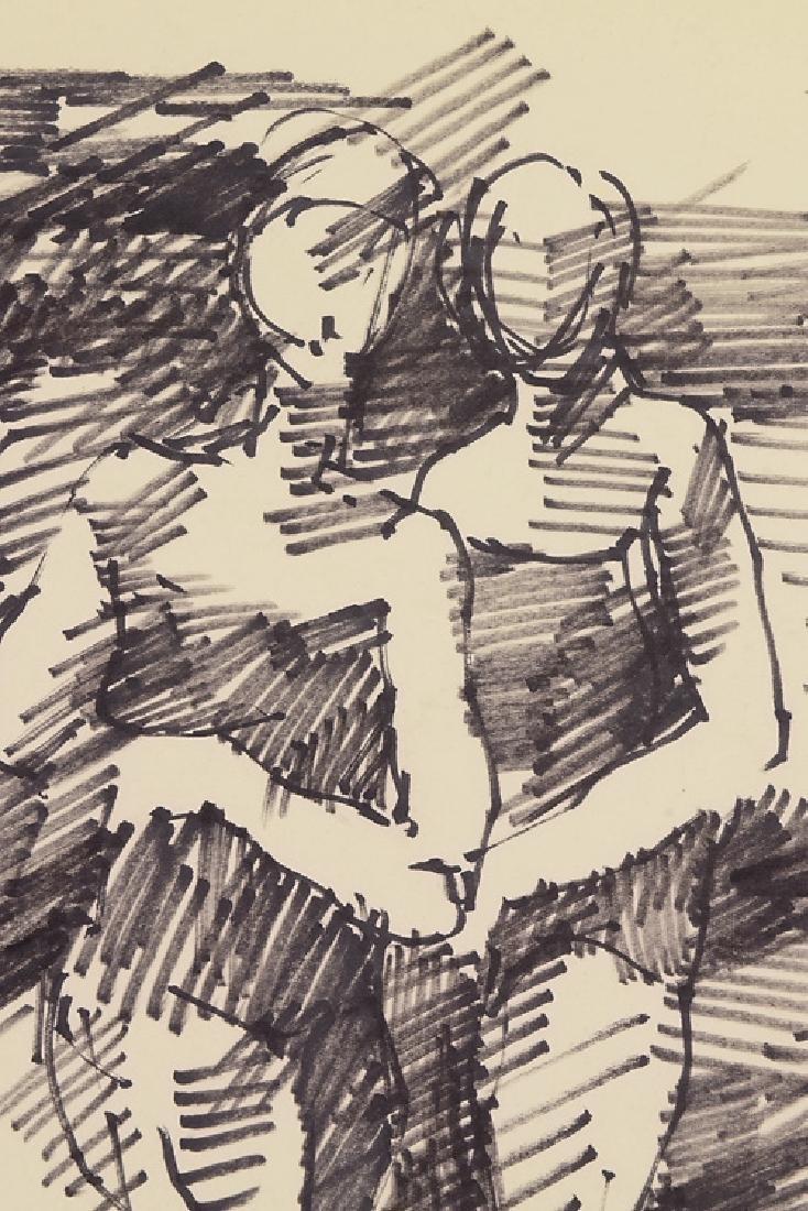 Artist Signed SALVATORE GRIPPI BLACK MARKER ON PAPER - 2