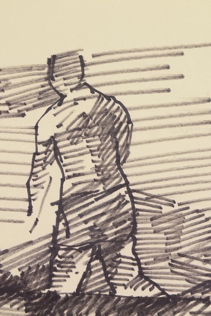 Artist Signed SALVATORE GRIPPI BLACK MARKER ON PAPER - 3