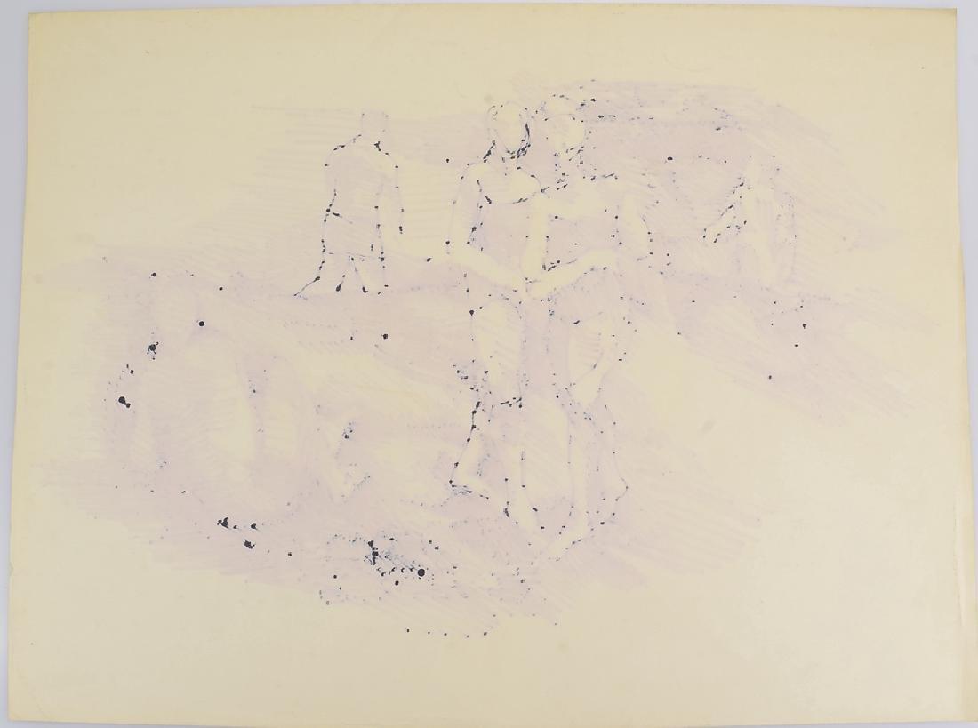 Artist Signed SALVATORE GRIPPI BLACK MARKER ON PAPER - 7