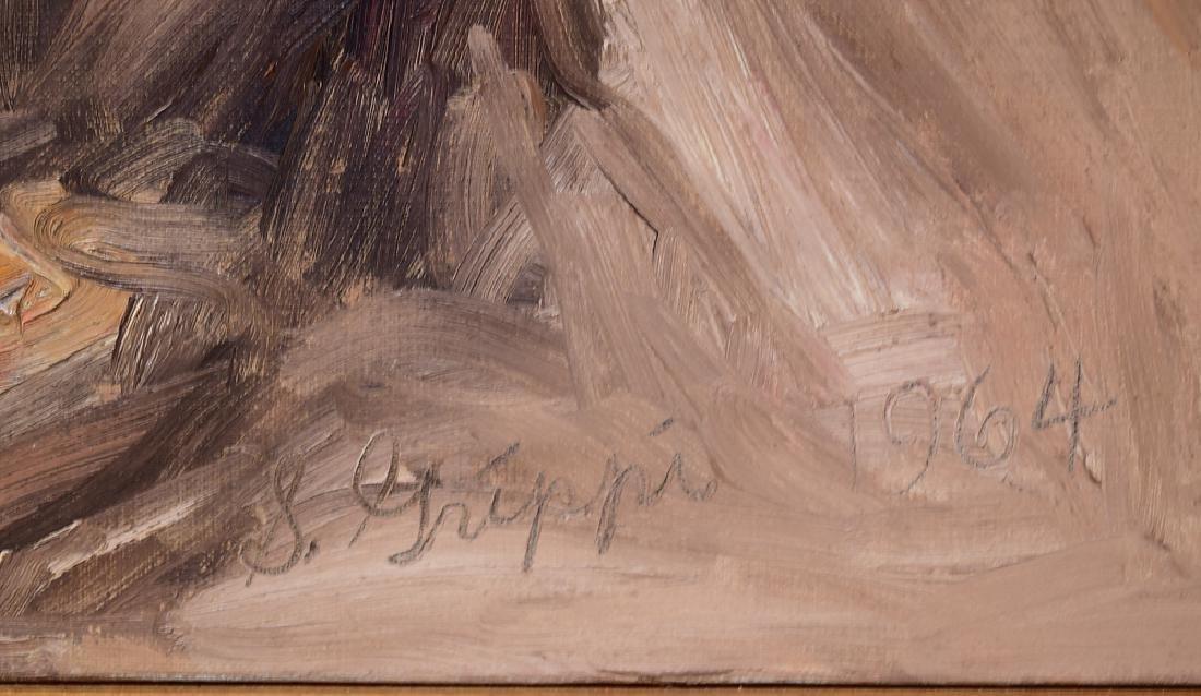 Artist Signed SALVATORE GRIPPI OIL ON CANVAS 1964 - 5