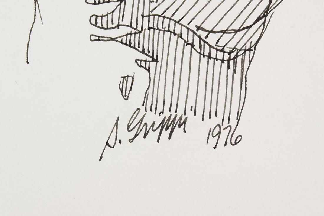 2pcs Signed SALVATORE GRIPPI INK STUDY OF HANDS 1976 - 5
