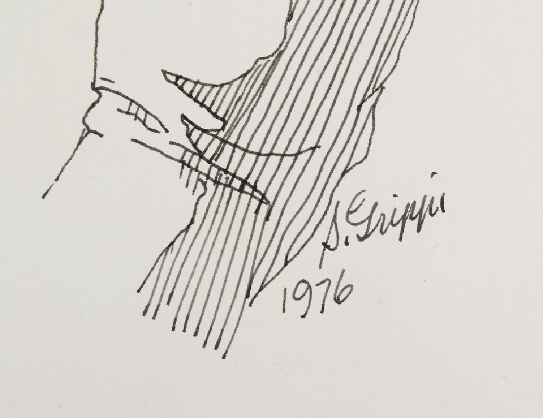 2pcs Signed SALVATORE GRIPPI INK STUDY OF HANDS 1976 - 8
