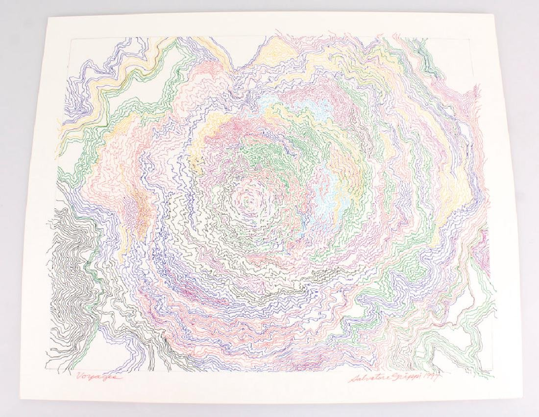 Abstract Expressionist Drawing SALVATORE GRIPPI VOYAGES