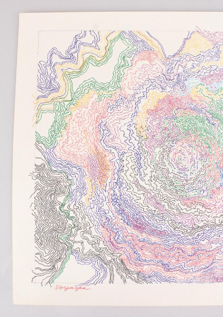 Abstract Expressionist Drawing SALVATORE GRIPPI VOYAGES - 2