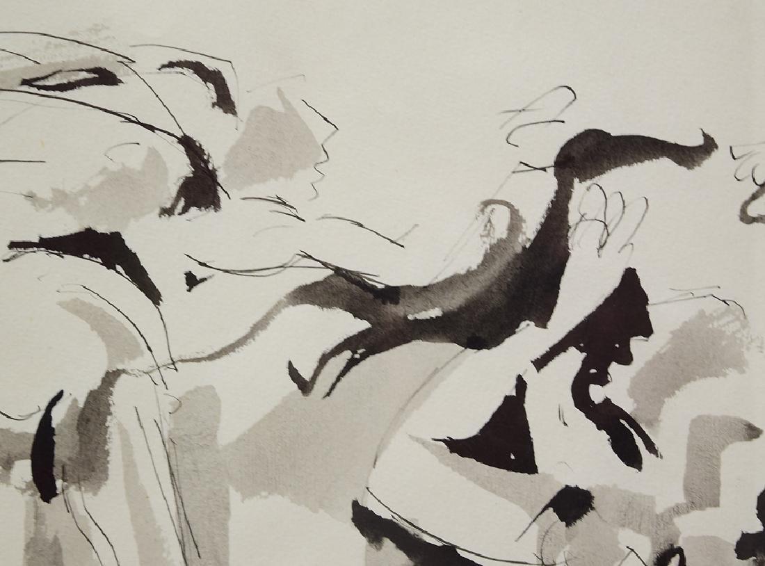 Early Work Framed SALVATORE GRIPPI INK ON PAPER Artist - 2