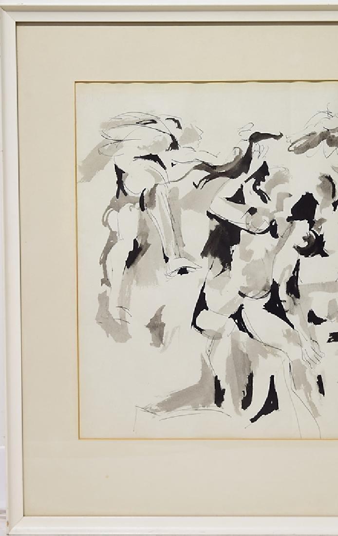 Early Work Framed SALVATORE GRIPPI INK ON PAPER Artist - 4