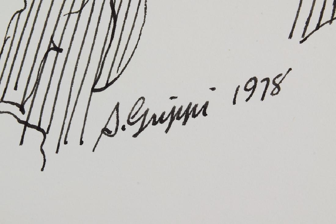 3pcs Ink & Pastel ORIGINAL SALVATORE GRIPPI STUDIES OF - 4