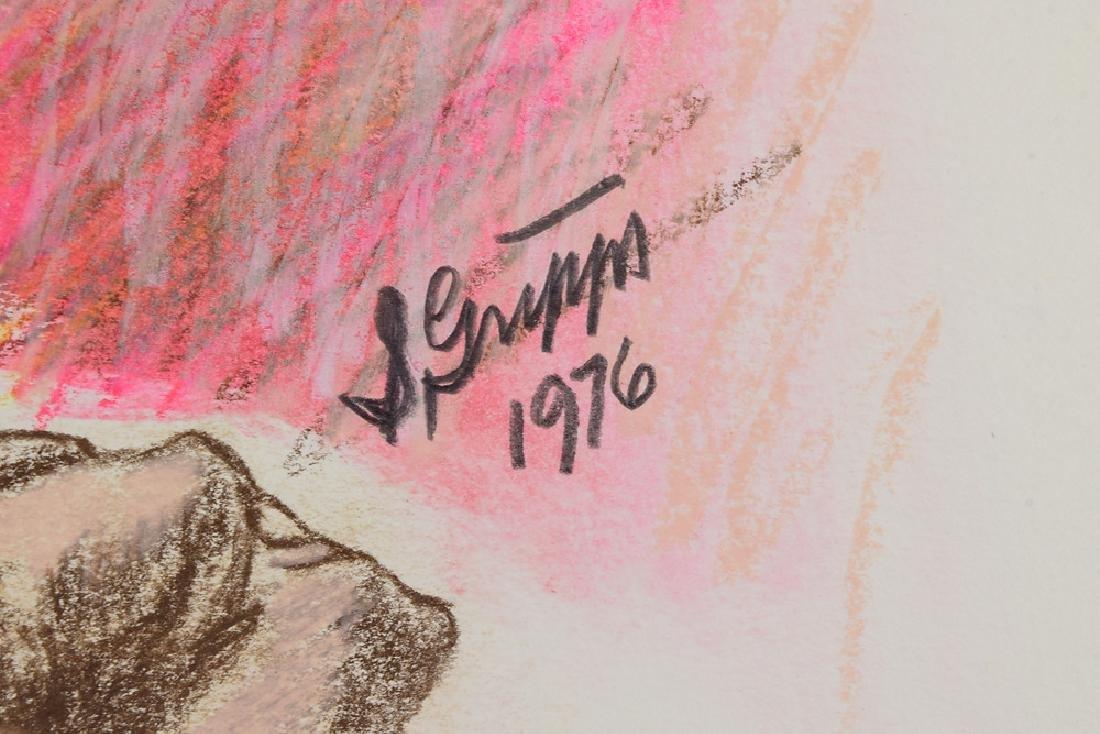 3pcs Ink & Pastel ORIGINAL SALVATORE GRIPPI STUDIES OF - 6