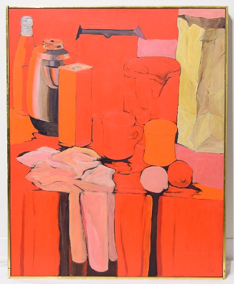 Still-Life Painting SALVATORE GRIPPI OIL ON BOARD 1966