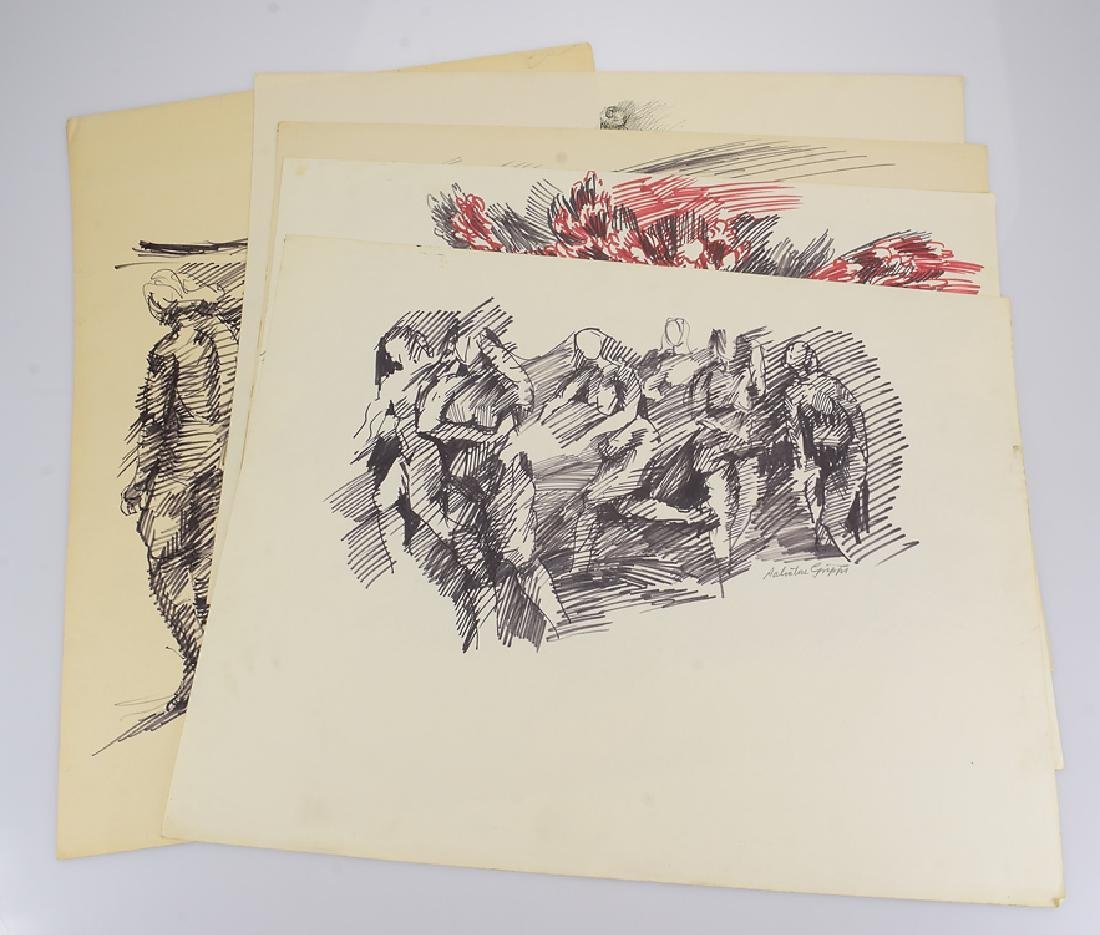 5pcs Figurative Still-Life SALVATORE GRIPPI DRAWINGS