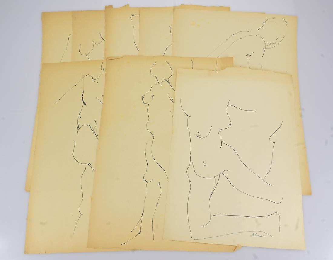 8pcs Ink Nude Studies ORIGINAL SALVATORE GRIPPI