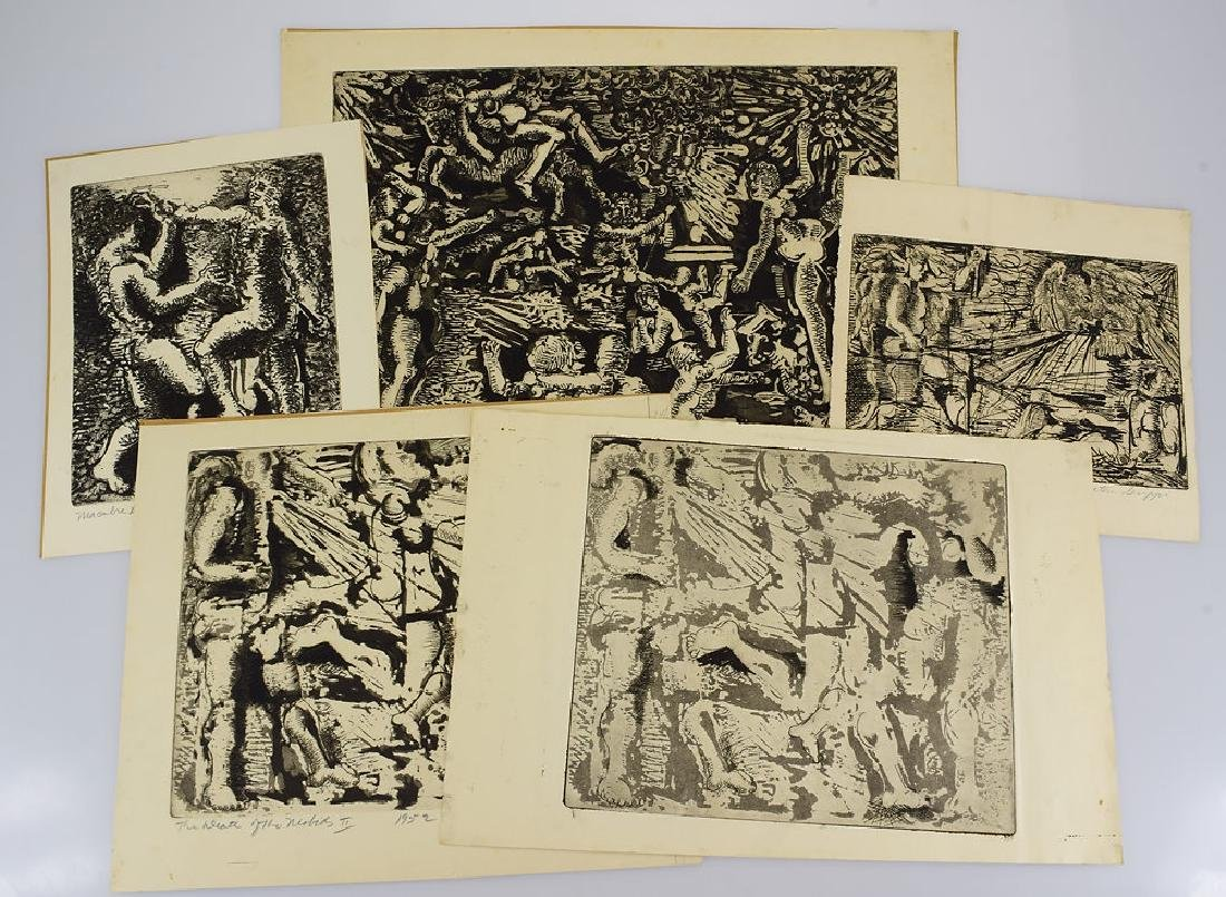 5pcs Prints Artist's Proofs EARLY SALVATORE GRIPPI