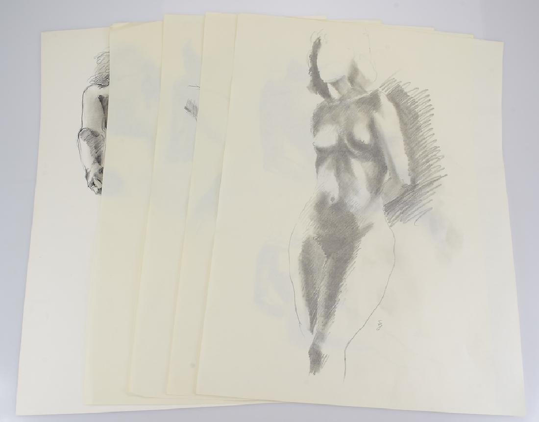 5pcs Female Nude Studies ORIGINAL SALVATORE GRIPPI