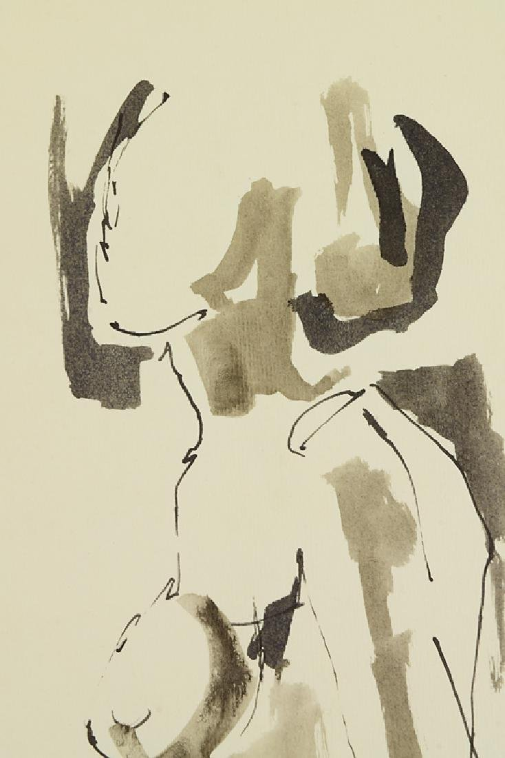 Ink On Paper EARLY SALVATORE GRIPPI FIGURATIVE ABSTRACT - 2