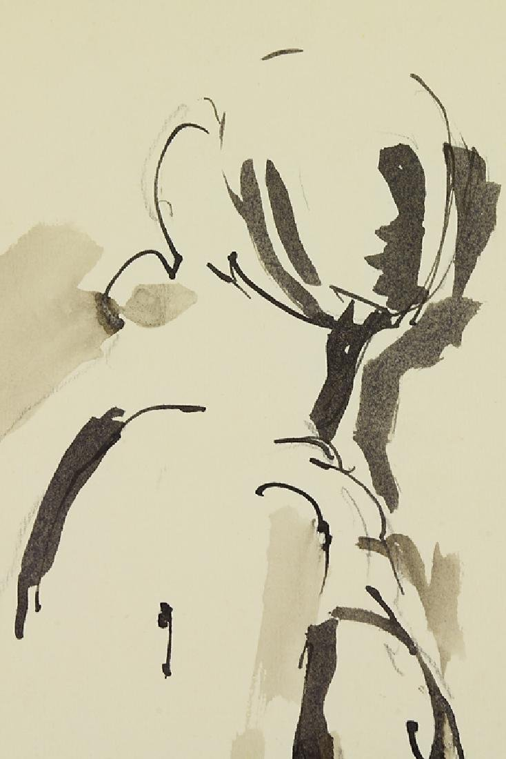 Ink On Paper EARLY SALVATORE GRIPPI FIGURATIVE ABSTRACT - 3