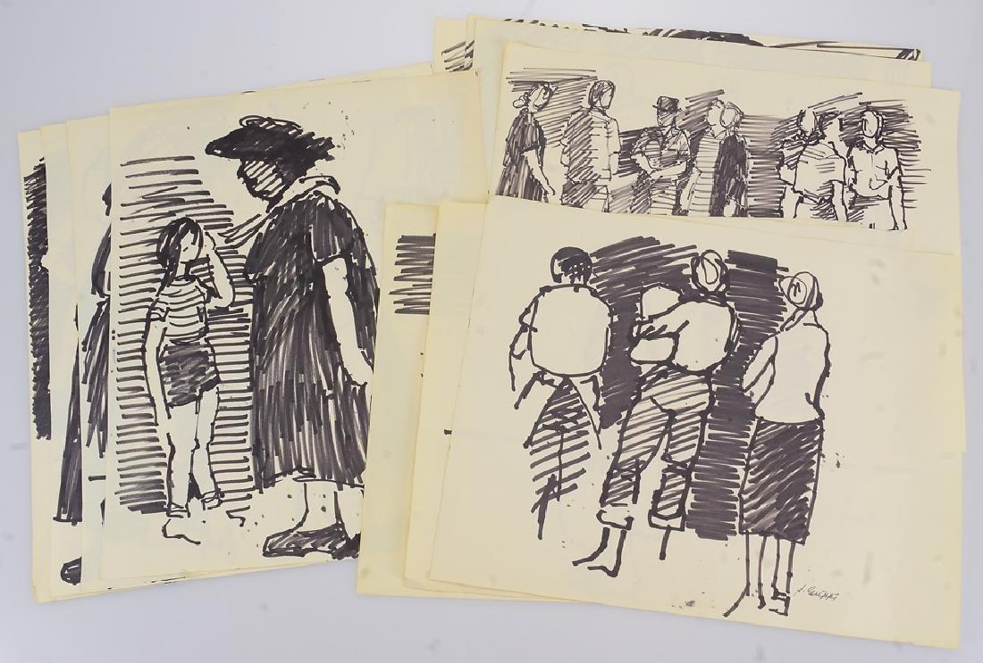 11pcs Black Marker Sketches ORIGINAL SALVATORE GRIPPI