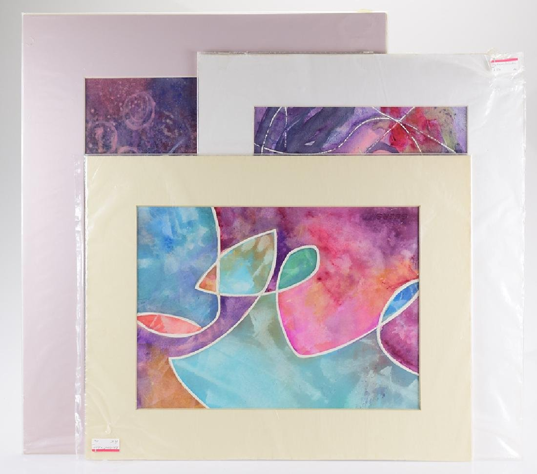 3pcs Abstract Expressionist Modern ORIGINAL PEGGY GEERS