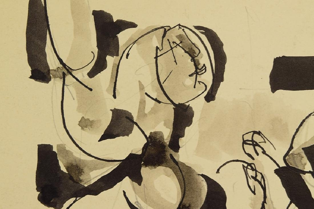 2Pcs Ink & Watercolor EARLY SALVATORE GRIPPI 1955 - 6