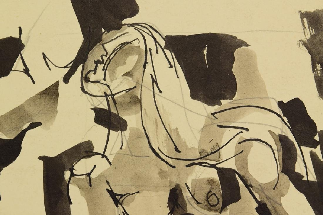 2Pcs Ink & Watercolor EARLY SALVATORE GRIPPI 1955 - 7