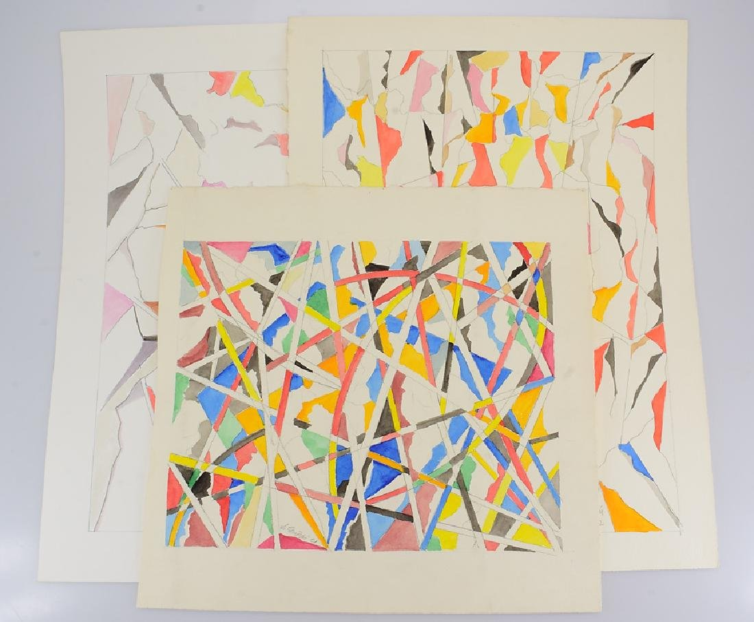 3Pcs Watercolor & Pencil SALVATORE GRIPPI GEOMETRIC