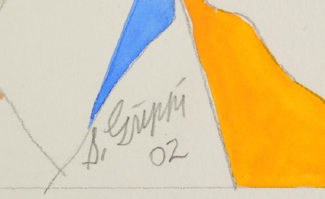 3Pcs Watercolor & Pencil SALVATORE GRIPPI GEOMETRIC - 6